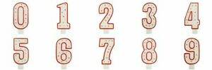 Red Spot Birthday Candles Number 0-9 Anniversary Party Candle Cake Topper Decor
