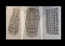 Airbrush Schablonen Set Alligatorhaut  3 DIN A4 Schablonen aus Mylar