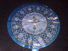 Communion Celebration Blue Mylar Balloon