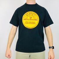 Vintage Sun Records Music T-Shirt Men's Medium Black Logo Print Tee