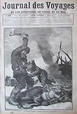 JOURNAL DES VOYAGES N° 498 de 1887 CANNIBALE MASSACRE ENFANTS / ABYSSINIE ETHNIE