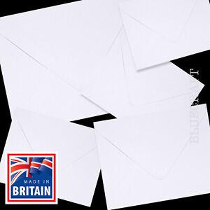 50 x White 130 x 130mm Square 5 inch Premium Envelopes 100gsm Invites & Cards