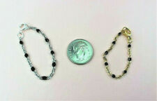 Dollhouse Miniature Necklace-1:12 or 1:6 Scale-Black & Silver or Gold New Item