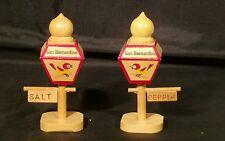 Vintage Wood Street Lamps Salt & Pepper Shaker Set Japan