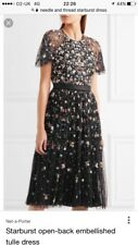 Needle and thread Backless Embellished Starburst Dress Size 8 sequin sheer