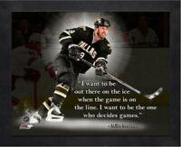 "Mike Modano Dallas Stars NHL Pro Quotes Photo (Size: 12"" x 15"") Framed"