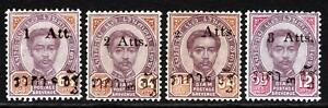 Thailand Early  MNH Provisional Issues Superb A+A+A+