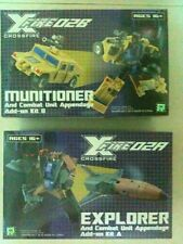 *RARE* Transformers Fansproject XF-02A+B Crossfire Explorer + Munitioner (MISB)