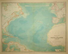 NORTH ATLANTIC OCEAN PUBLISHED WITH THE ROYAL ATLAS W. & A. K. JOHNSTON. 1896