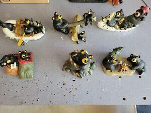 Lot of 6 bearfoots bears jeff fleming big sky carvers
