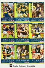 2009 AFL Teamcoach Trading Card Gold Parallel Team Set Carlton (12)