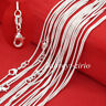 """Wholesale Lots Women 925 Sterling Silver 1mm Soft Snake Chain Necklace 16-30"""""""