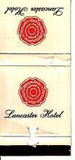 Lancaster Hotel Av. Cordoba 405 Buenos Aires Argentina Vintage Matchcover