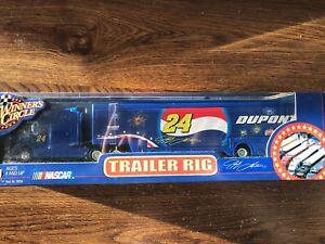 2002 Winners Circle 1/64 Jeff Gordon Pepsi July 4th Trailer Rig Race Car Hauler