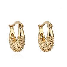 Fashion Jewelry Alluring 18K Yellow Gold Filled Hoop Earrings Womens Ear Stud
