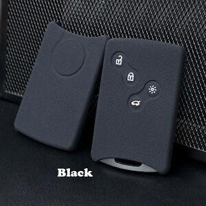 Black Silicone Car key cover fit Renault Clio Logan Megane 2 3 Koleos scenic