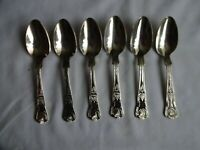 Vintage Silver Plated Kings Pattern Dessert Spoons x 6 Viners Sheffield  18 cm
