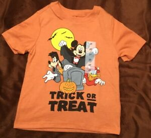 MICKEY MOUSE AND FRIENDS HALLOWEEN/TRICK OR TREAT OLD NAVY 2T T SHIRT Disney