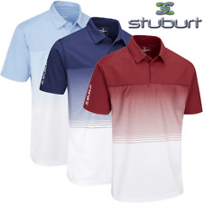 STUBURT EVOLVE DALTON FADED STRIPE MENS GOLF POLO SHIRT / NEW 2020 MODEL
