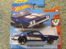 Hot Wheels 2018 # 215/365 1969 Dodge Charger 500 AZUL Muscle Mania