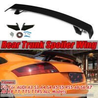 GLOSSY R STYLE Rear Trunk Spoiler For AUDI A3 S3 A4 S4 A5 S5 RS5 A6 S6 A7 A8