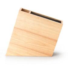 Continenta Messerblock aus Gummibaumholz ohne Schlitze mit Behälter, schräg