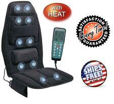 Back Massage Chair Heated Seat Cushion Lumbar Car Seat Massager Neck Pad Heater