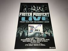Faster Pussycat Rare Authentic Signed Promo Poster Taime Downe Live Front Row