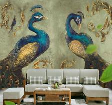 3D Wallpaper Mural sitting room Bedroom Embossed peacock Background wall W7993