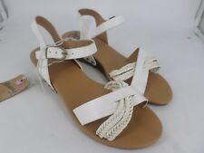 Mustang Maddie Wedge Heeled White Sandals UK 7 EU 40 LN088 TT 06