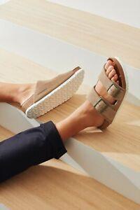 Birkenstock Monocle Arizona Suede Sandals EU 36 Womens 5-5.5M Taupe