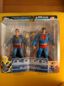 DC ORIGINS SERIES 2 SUPERMAN 2-PACK with Collectible Card! (Sealed)