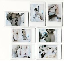 (SET OF 7) OOAK Original Instax Polaroid Art Photos - Nude Naked Brunette Tattoo