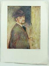 Vintage Auguste Renoir Portrait de Lui-meme Art Print