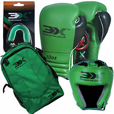 3XSports Kids Boxing Gloves holdall Head Guard Junior UFC Groin Protector Mouth