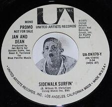 Jan & Dean dj 45 SIDEWALK SURFIN' mono / stereo ~ UNPLAYED PROMO~United Artists