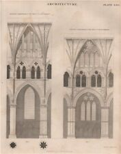 LINCOLN CATHEDRAL. Sectional compartments of the nave & choir. BRITANNICA 1860