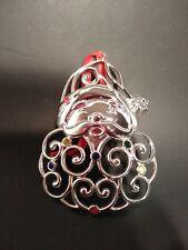 Lenox Santa Face Silver Ornament With Gems