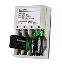 lloytron AA/AAA or 9v PP3 Rechargeable Mains Plug in Battery Charger