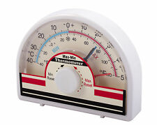 Dial MIN Max Thermometer indoor/outdoor Greenhouse Conservatory