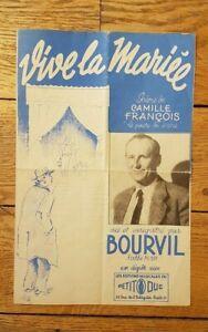 """Partition """" Vive la Mariée """" par BOURVIL"""