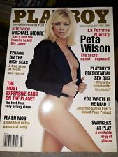 Playboy Magazine July 2004 Peta Wilson, Stephanie Glasson, Michael Moore