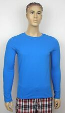 T&L Fashions Men's Black Turquoise Grey White Knit T-Shirts Crew Top Long Sleeve