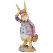 "Raz Imports Enchanted Easter 16.5"" Rabbit with Suitcase Figurine"