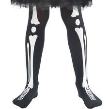 Bambini Ragazze Vestito per Halloween Stampascheletro Calze 4-9 anni da Smiffys