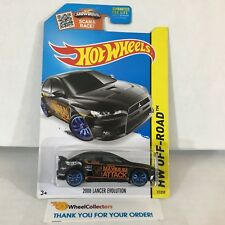 #2  2008 Lancer Evolution #77 * BLACK * 2015 Hot Wheels * NF22
