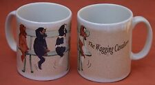 CAVALIER KING CHARLES SPANIEL DOG MUG WAGGING TAIL COMICAL PRINT SANDRA COEN ART