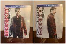 Jack Reacher 1&2 Steelbook (Blu-ray/DVD/Digital) Factory Sealed RARE!