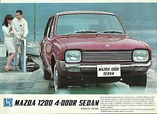 Mazda 1200 4 Door Sedan Deluxe Original Italian Sales Leaflet Brochure Mint