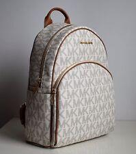 MICHAEL KORS Damen Tasche ABBEY LG BACK PACK Rucksack vanilla/acorn 35S7GAYB3L